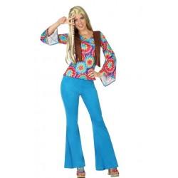Disfraz de Hippie Mujer T.XL