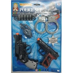 Set de Policia 2 Pistolas Warrior