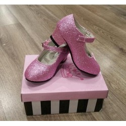 Zapatos con Purpurina Rosa...