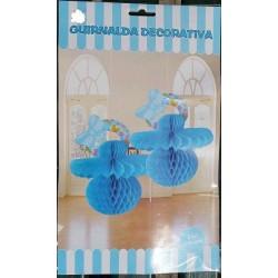 Chupete Azul Deco Papel 22x22.5 cm.