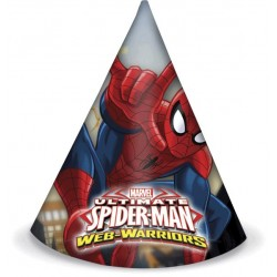 Sombreros Spiderman 6un.