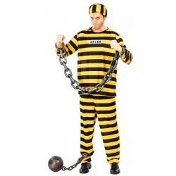 Disfraz de Prisionero Amarillo Rayas