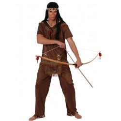 Disfraz de Indio Marrón hombre T.XL