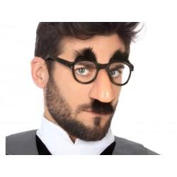 Gafas con nariz y Bigote Negro