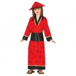 Disfraz de China Roja Niña