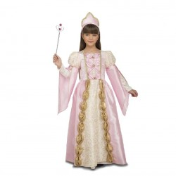 Disfraz de Princesa Reina Rosa niña