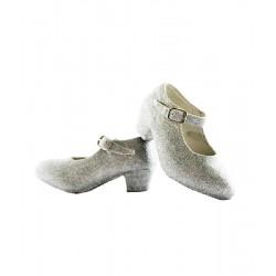 Zapatos con Purpurina Plata...