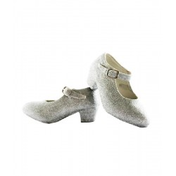 Zapatos con Purpurina Plata T.23-33
