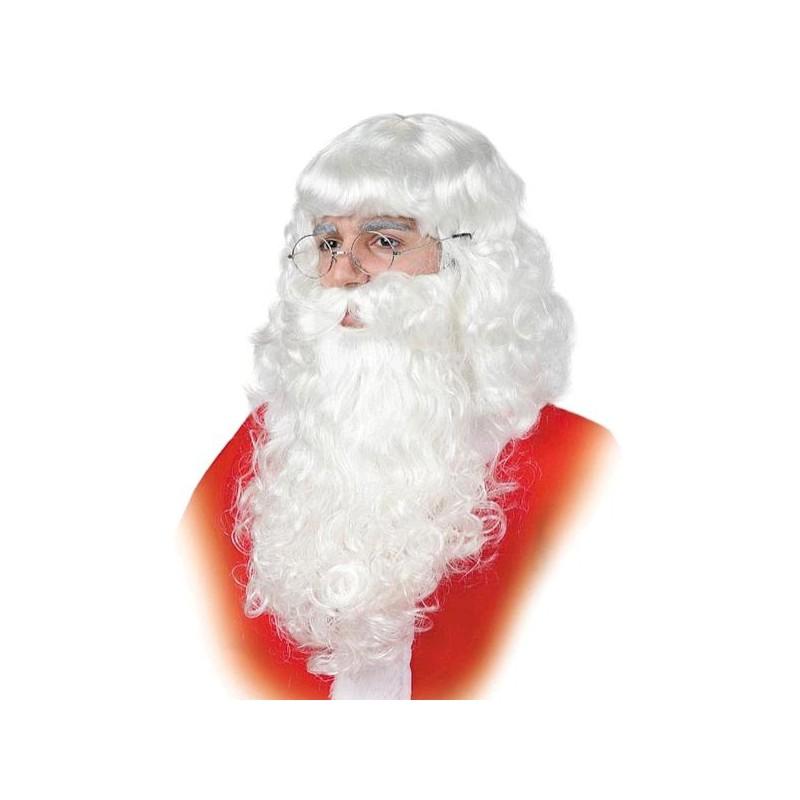Barba de Papa Noel Blanca Adulto