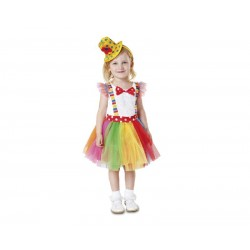 Disfraz de Payasita Tutú niña