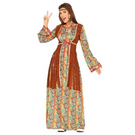Disfraz de Hippie Mujer Largo