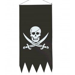 Pendón Pirata 43x86 cm.