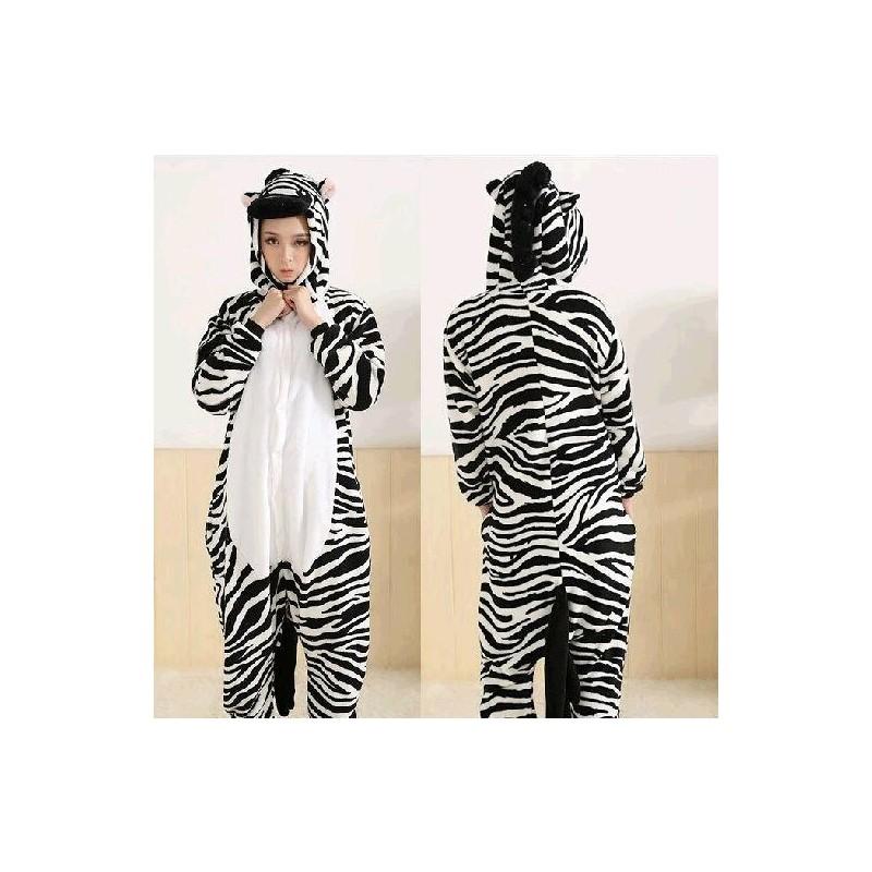 Disfraz de Cebra Pijama Adulto