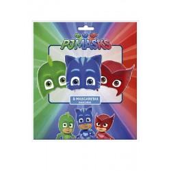 Caretas de PJ Masks 6 uniod.