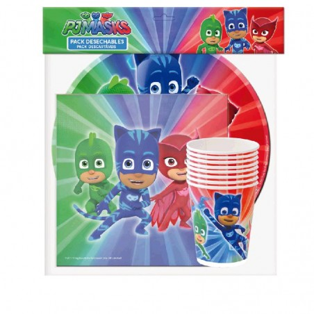 Pack PJ MASKS Desechables