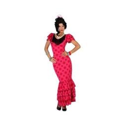 Disfraz de Flamenca Rosa T-XS-S
