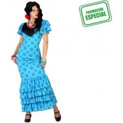 Disfraz de Flamenca Azul T-XS-S