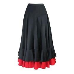 Falda Flamenca Volantes Rojo/Negro Niña