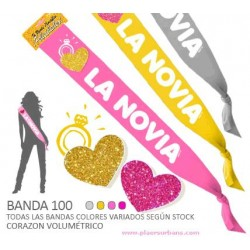 BANDA 100 LA NOVIA CON CORAZON PURPURINA