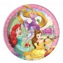 Platos Princesas Disney 8 un. de 23 cm.