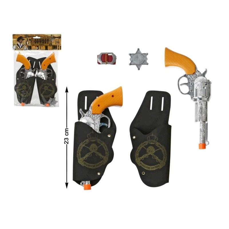 Pistolas con Cartucheras