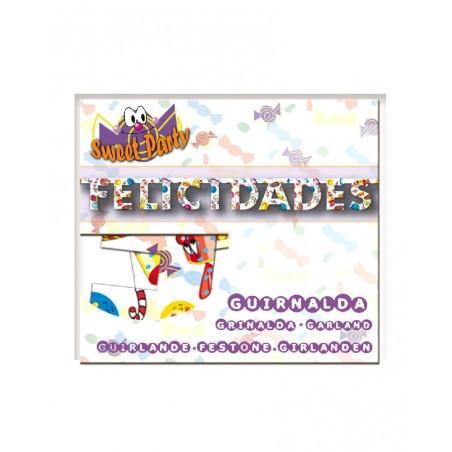 Guirnalda Felicidades Sweet Party 1,2 m.