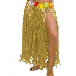 Falda Hawaiana Flores Paja...