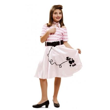 Disfraz de Pink Lady niña 5-6 años