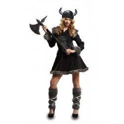 Disfraz de Vikinga Salvaje Mujer