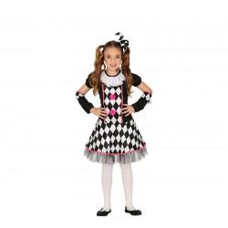 Disfraz de Arlequina con Rombos niña