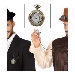 Reloj de Steampunk con Cadena
