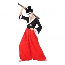 Disfraz de Guerrera Japonesa para mujer