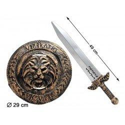 Escudo y Espada de Guerrero romano