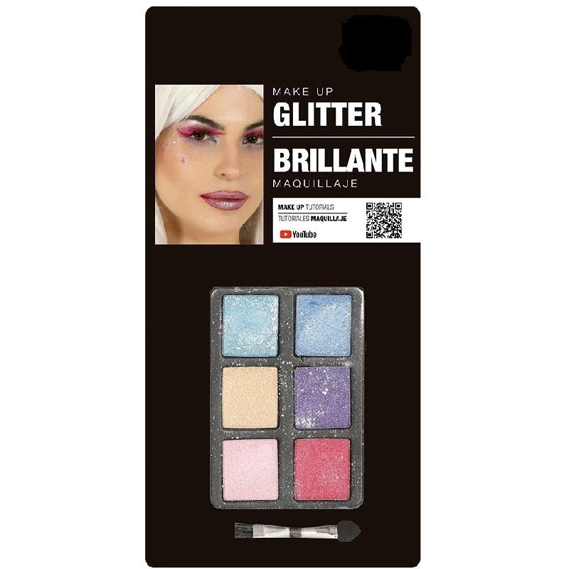Set Maquillaje Sombra con Glitter+pincel