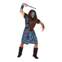 Disfraz de Escoces Guerrero para hombre