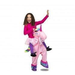 Disfraz de Unicornio Rosa a hombros niña