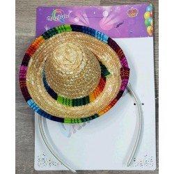 Sombrero Mini Mejicano con Diadema