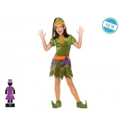 Disfraz de Duende para niña 7-9 años