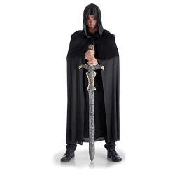 Capa Negra con Capucha 135 cm.