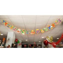 Guirnalda Feliz Cumpleaños 3D Purpurina