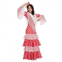 Disfraz de Sevillana Rojo Lunares T.ML