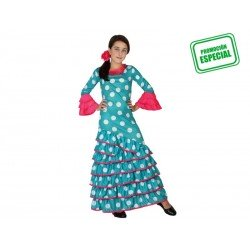 Disfraz de Flamenca Azul...