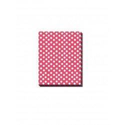 Mantel Rojo Plast. con Lunares Blancos