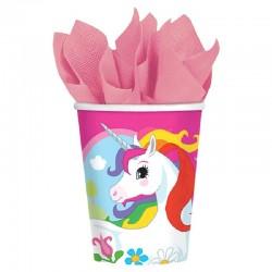 Vasos Unicornio 8 unid.