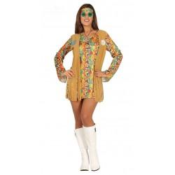 Disfraz de Hippie mujer T.L.