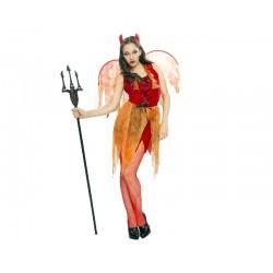Disfraz de Demonia con Alas...