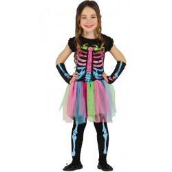 Disfraz de Esqueleta Tutú niña