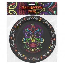 Platos Catrina Halloween 6...
