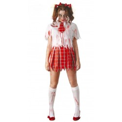 Disfraz Colegiala Zombie Mujer