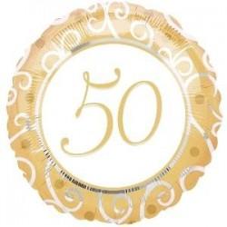 "GLOBO 50 ANIVERS.18""/45 CM."